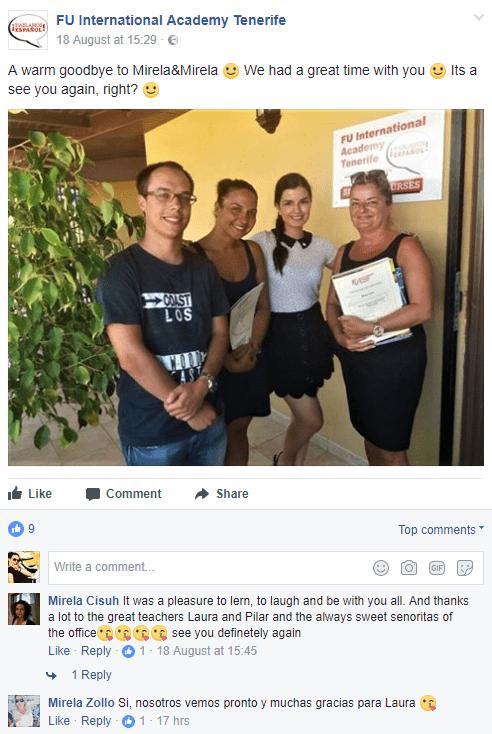 Comentario de las estudiantes Mirela y Mirela