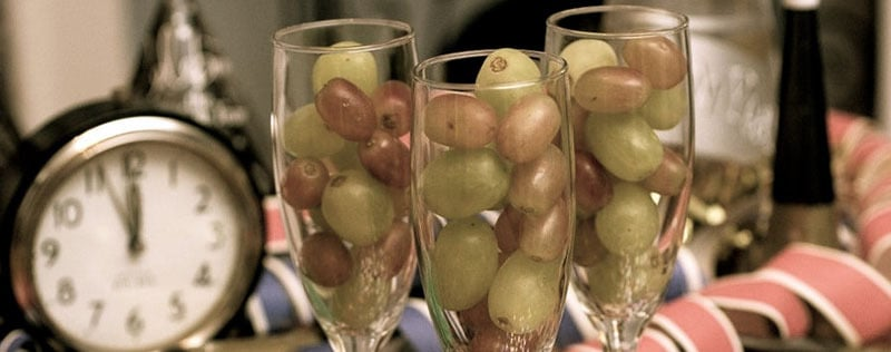 New years eve grapes