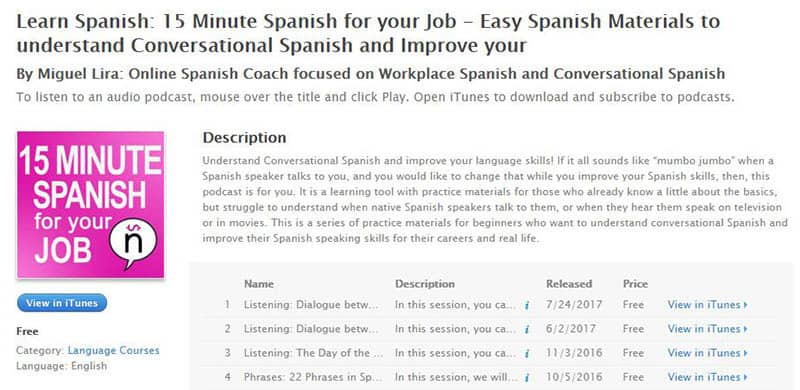 Learn Spanish: 15 Minute Spanish for your job
