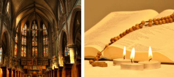 Kirche und Rosenkranz