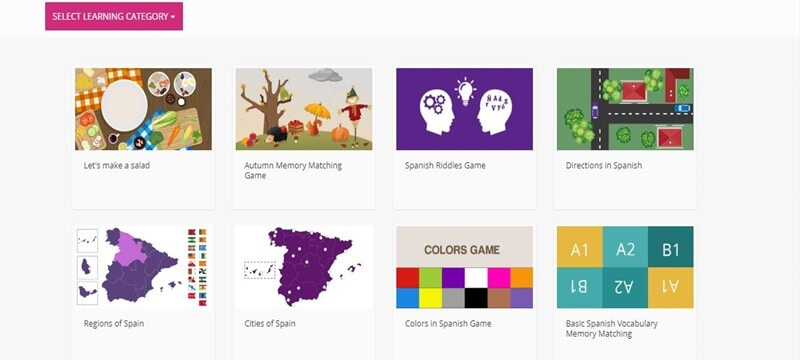 Learn Spanish with ISLA learning games