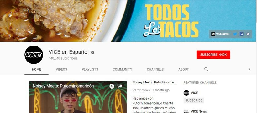 VICE YouTube Channel Learn Spanish