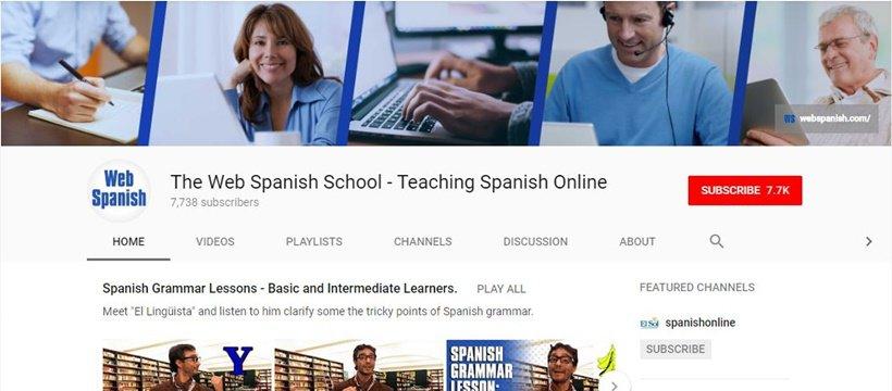 Web Spanish YouTube Channel