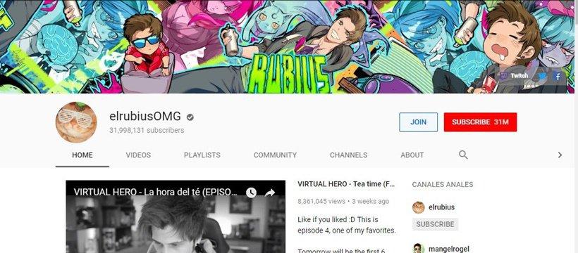 elrubius YouTube channel