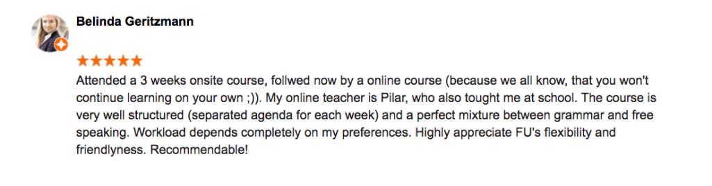 Online Spanish review by Belinda