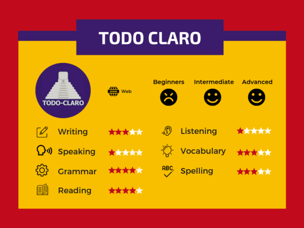 TODOCLARO - LEARN SPANISH ONLINE APP